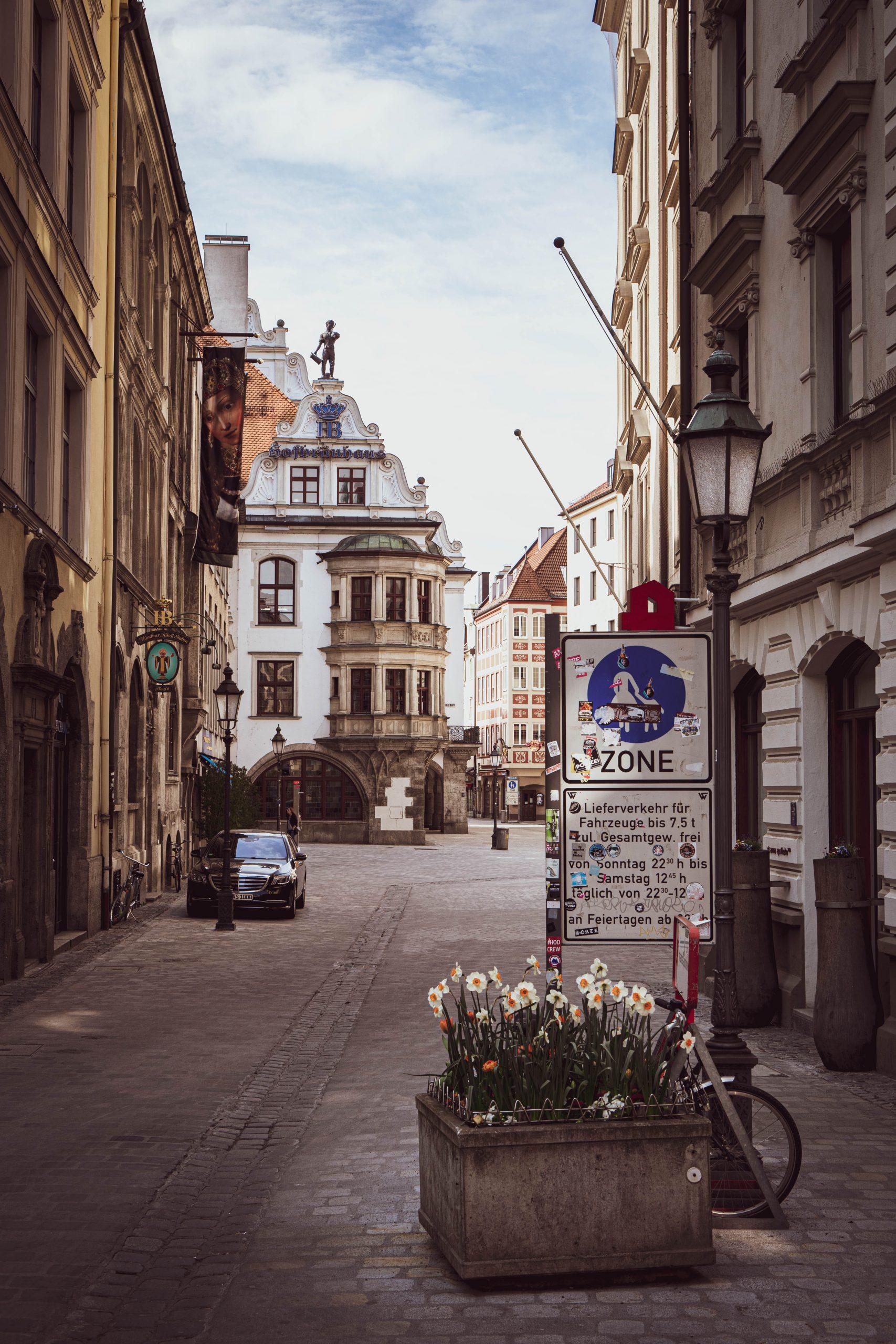 Blick in die Münchner Fußgängerzone